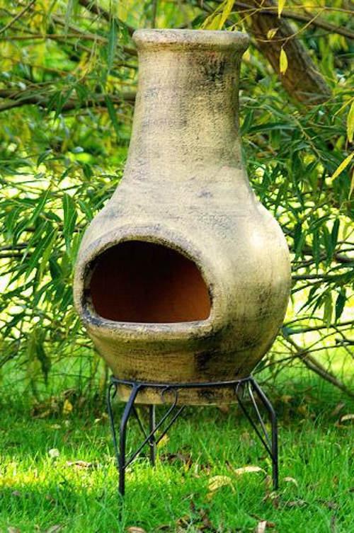 TERA Venkovní zahradní terakotový krb 83 cm