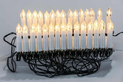 Klasické svíčky na vánoční stromeček s LED diodami