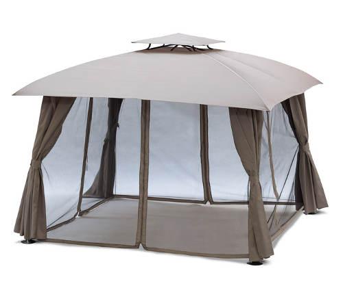 Luxusní zahradní altán BARCELONA s moskytiérami
