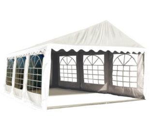 Bílý svatební párty stan 3 x 6 m