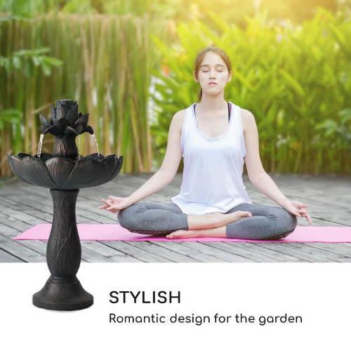Fontána pro relaxaci na zahradě