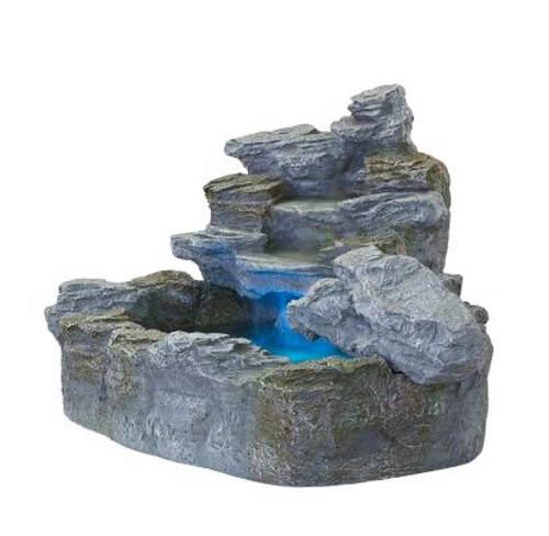 Kašna z umělého kamene s LEd osvětlením