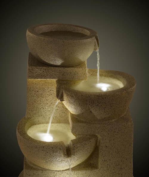 Misková kašna s LED osvětlením