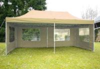 Nůžkový béžový zahradní párty stan 3 x 6 m