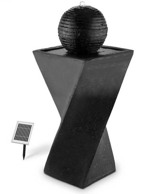 Solární fontána černý čedič