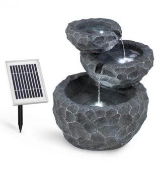 Solární kaskádová kašna s LED osvětlením