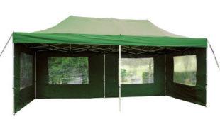 Zahradní zelený nůžkový párty stan 3 x 6 PROFI