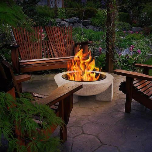 Kameninové ohniště na terasu