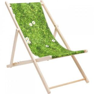 Klasické dřevěné zahradní lehátko Green Meadow