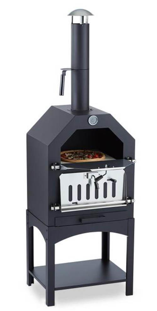 Kovový zahradní pec na pizzu a chleba