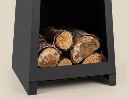 Krb s úložným prostorem na dřevo