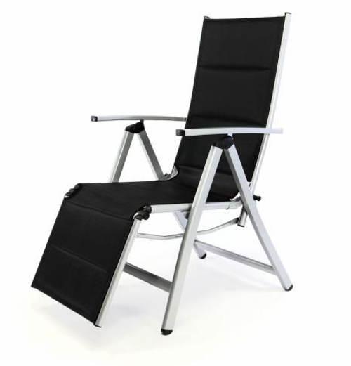 Polohovatelná zahradní židle s opěrkou nohou
