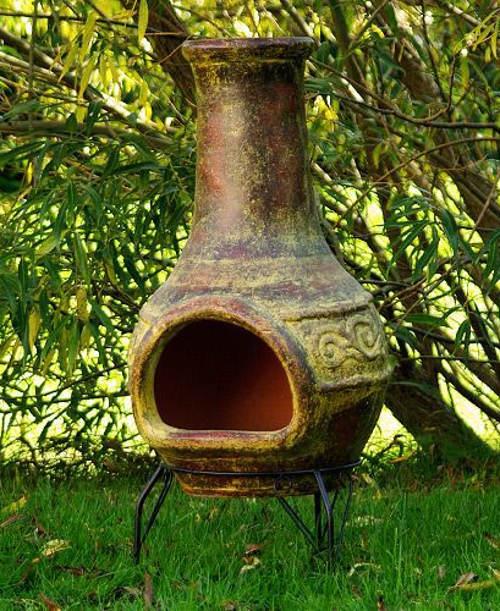 Velký venkovní zahradní terakotový krb 90 cm