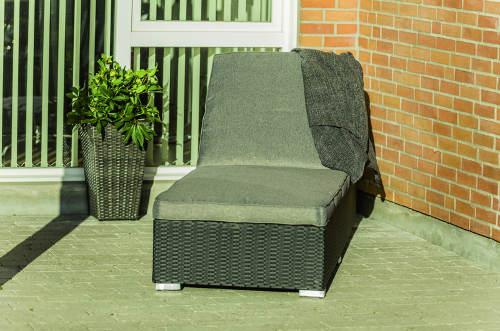 Výprodej zahradní lehátko umělý ratan