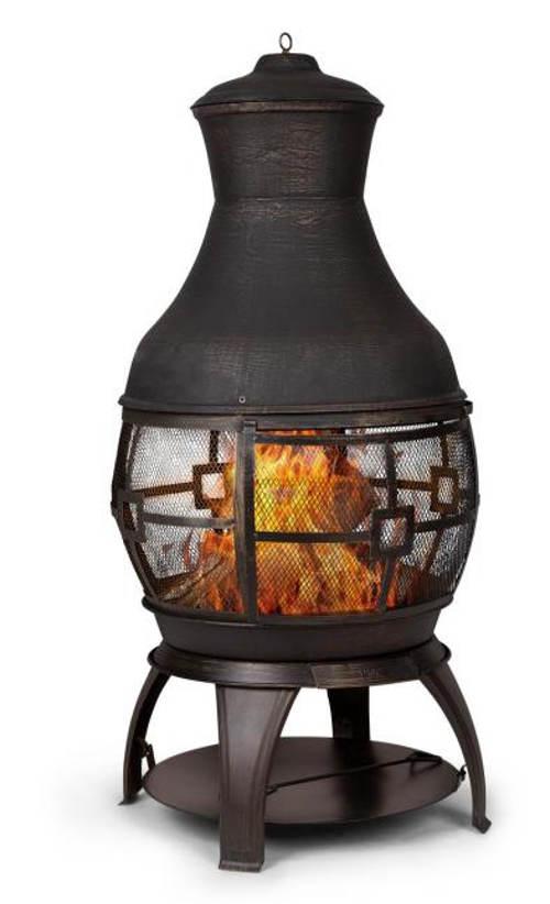 Zahradní krb s 360 ° otevřeným ohništěm