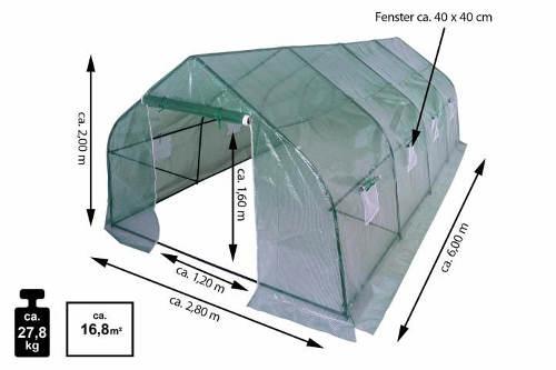 Kompletní rozměry fóliovníku