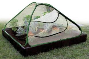 Sada zahradního fóliovníku a palisády k vytvoření záhonu