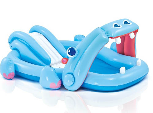 Dětský nafukovací bazén se skluzavkou Hroch