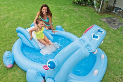 Dětský zahradní bazének se skluzavkou