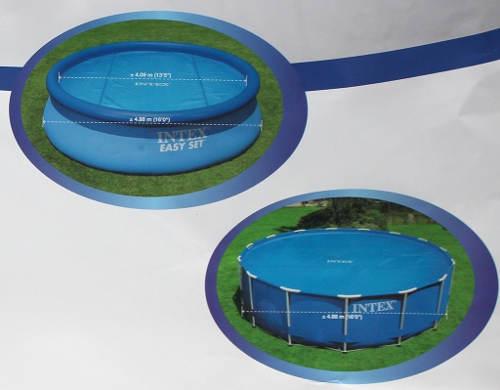 Kruhové bazény Intex se solární plachtou