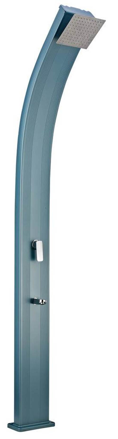 Modrá designová hliníková venkovní solární sprcha