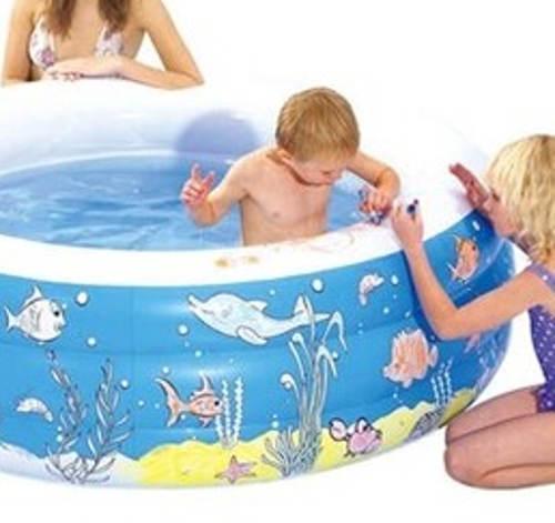 Nafukovací bazén s kreslením