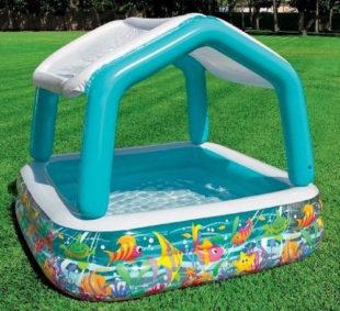 Nafukovací dětský bazén se stříškou