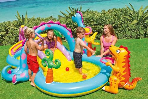 Nafukovací dětský bazének se skluzavkou