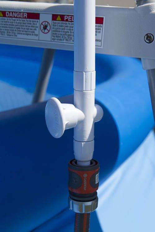 Napojení bazénové sprchy k vodovodní hadici