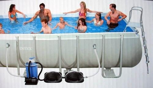 Paralelní zapojení solárního ohřevu bazénu