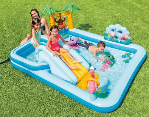 Velké bazénové hrací centrum na zahradu
