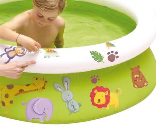 Zelený nafukovací bazén s obtisky