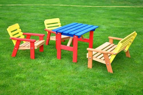 Dětský zahradní nábytek masiv borovice