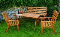 Dřevěná zahradní nábytková soustava Sylva