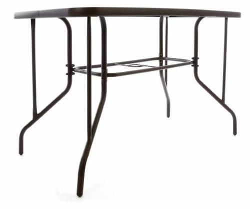Kovový zahradní stůl se sklem
