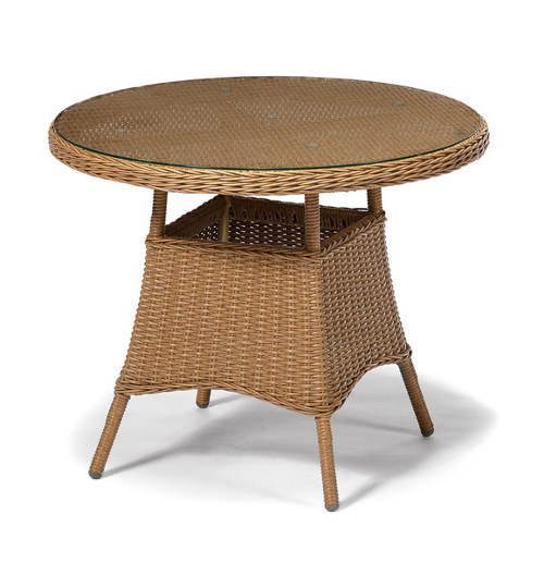 Kulatý stůl přírodní ratan
