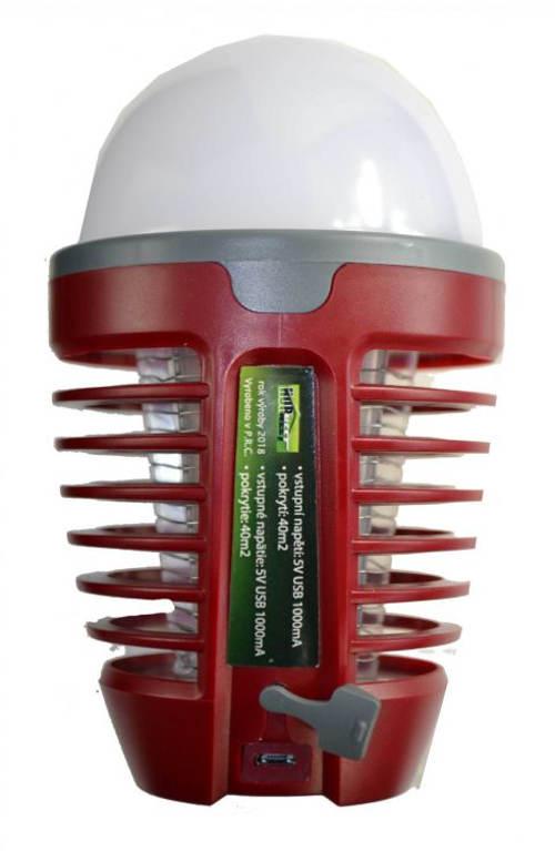 Lapač hmyzu s USB dobíjením