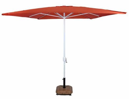 Oranžový obdelníkový slunčník na zahradu
