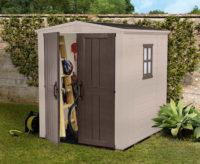 Béžový zahradní domek na nářadí 196x178 cm