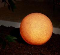 Dekorativní kulové zahradní svítidlo, Ø 50 cm, pískovec