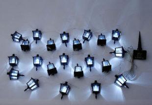 Dekorativní osvětlení terasy solární lucerničky