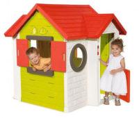 Dětský zahradní domek s elektronickým zvonkem