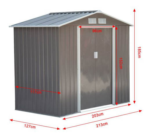 Kompaktní rozměry zahradního domku