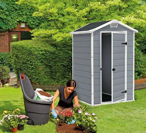 Plastový zahradní domek s podlahou