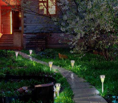 RGB LED osvětlení zahrady