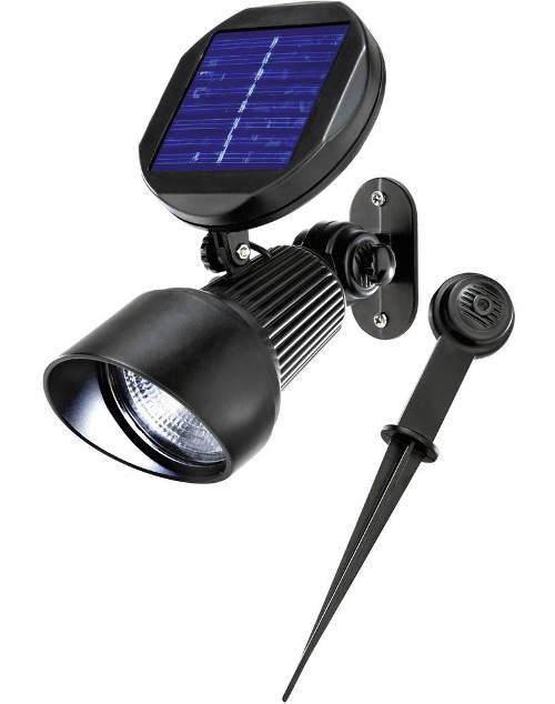 Solární LED svítidlo na zeď nebo do země