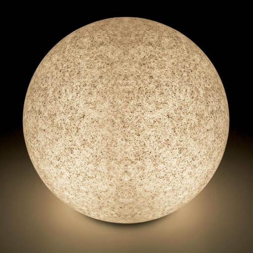 Svítící kulatý kámen šedý pískovec