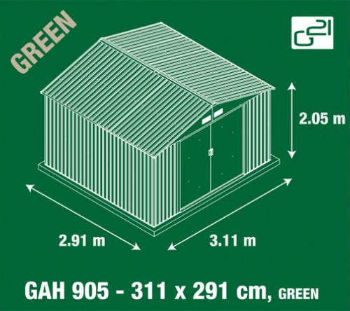 Technický nákres domku na nářadí