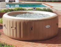 Béžový vířivý nafukovací bazén Pure Spa