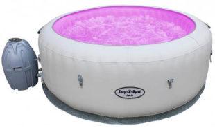 Levná nafukovací vířivka s LED osvětlením měnícím barvy
